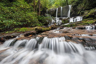 Photograph - Waterfall Jocassee Gorges Upcountry South Carolina by Mark VanDyke