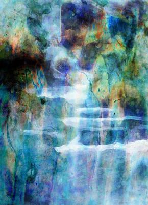Waterfall Art Print by Kathie Miller