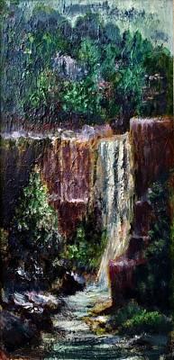 Painting - Waterfall  by Laila Awad Jamaleldin