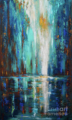 Painting - Waterfall by Linda Olsen