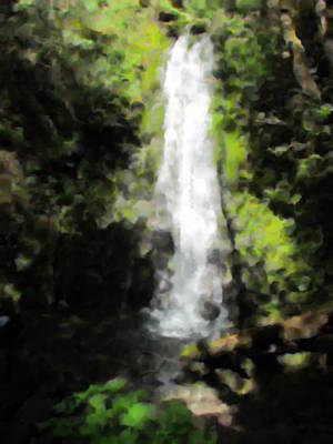 Painting - Waterfall - Madison Falls - Washington by Marie Jamieson