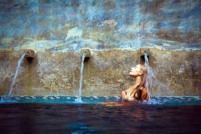Photograph - Waterfall Mermaid by Karl Alexander