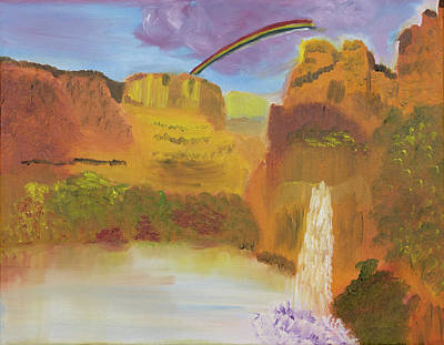 Painting - Rainbow Falls by Meryl Goudey