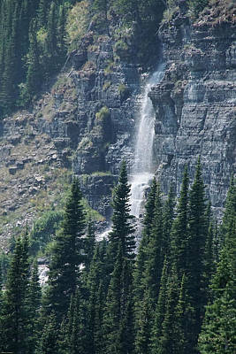 Photograph - Waterfall Near Logan Pass by Mick Anderson