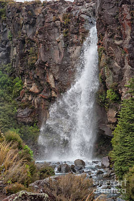 Photograph - Waterfall New Zealand by Patricia Hofmeester