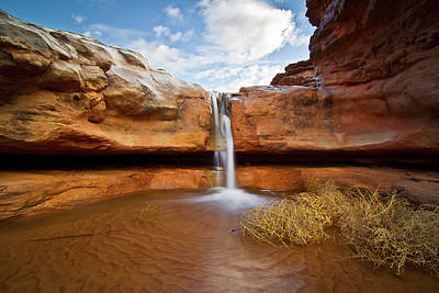 Waterfall Of Desert Print by William Church - Summit42.com