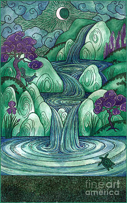 Waterfall Of Wishes Art Print by Kristian Johnson Michiels