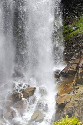 Photograph - Waterfall On Mount Rainier by Lynn Hansen