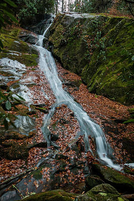 Photograph - Waterfall On Phillips Branch by Chris Berrier