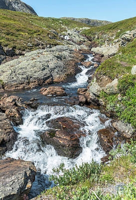 Photograph - Waterfall On The Bitihorn Track by Compuinfoto