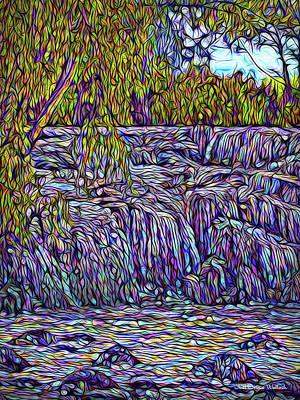 Digital Art - Waterfall Streaming by Joel Bruce Wallach