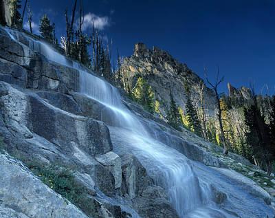 Waterfall Trail Art Print by Leland D Howard