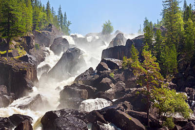 Photograph - Waterfall Uchar. Altai. Russia by Victor Kovchin