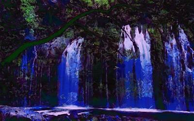 Digital Art - Waterfall Visual by Catherine Lott