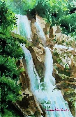 Painting - Waterfall by Wanvisa Klawklean