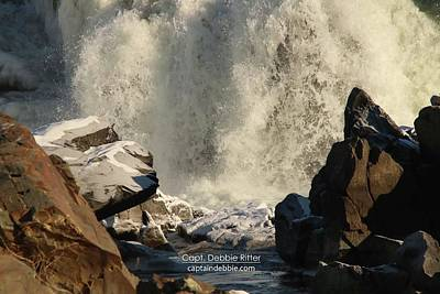 Photograph - Waterfall Winter 2357 by Captain Debbie Ritter