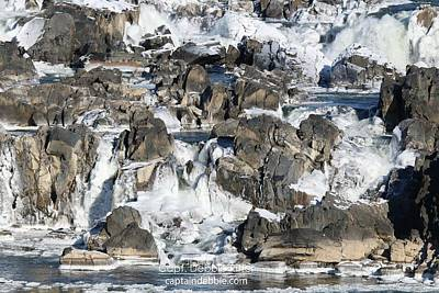 Photograph - Waterfall Winter 2684 by Captain Debbie Ritter
