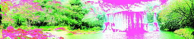 Digital Art - Waterfall Wonderland by Erika Swartzkopf