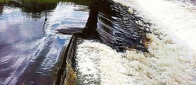 Mixed Media - Waterfall by YoursByShores Isabella Shores