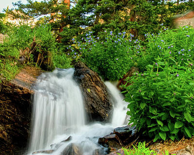 Photograph - Waterfalls Above Dream Lake by Harry Strharsky