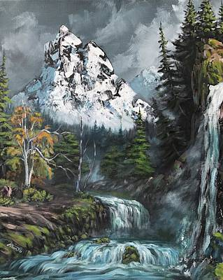 Painting - Waterfalls by Alban Dizdari