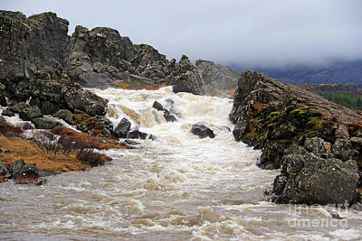 From The Kitchen - Waterfalls at Pingvellir National Park 6450 by Jack Schultz