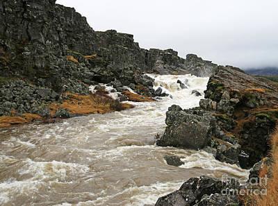 Wild And Wacky Portraits - Waterfalls at Pingvellir National Park 6456 by Jack Schultz
