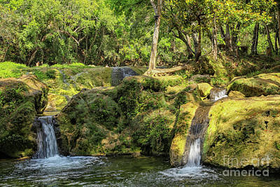 Photograph - Waterfalls At The Banos De San Juan by Patricia Hofmeester
