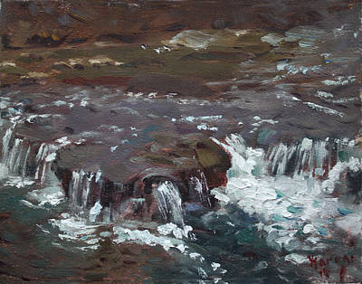 Waterfalls At Three Sisters Islands Art Print by Ylli Haruni