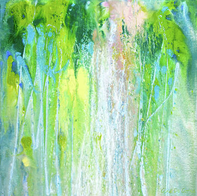 Painting - Waterfalls by Gina De Gorna