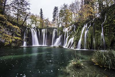 Waterfalls In Croatia Art Print