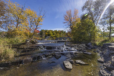 Photograph - Waterfalls In The Fall Season by Josef Pittner