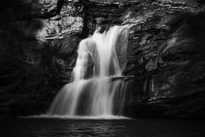 Photograph - Waterfalls In Western Ghats In Karnataka In Monochrome by Vishwanath Bhat