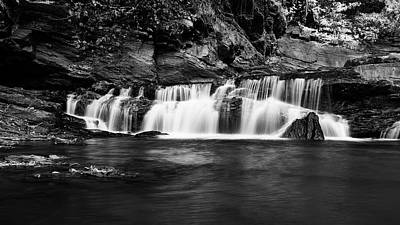 Photograph - Waterfalls In Western Ghats In Karnataka India In B And W by Vishwanath Bhat