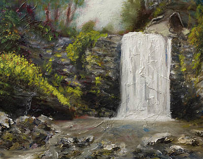 Painting - Waterfalls Of North Carolina Looking Glass Falls by Gray Artus
