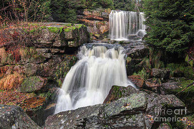 Photograph - Waterfalls On Jedlova Creek by Michal Boubin
