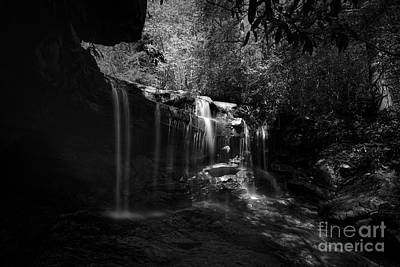 Photograph - Waterfalls On Small Mountain Stream In West Virginia by Dan Friend