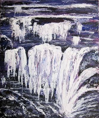 Mixed Media - Waterfalls by Vesna Martinjak