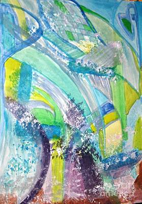 Painting - Waterfalls by Victoria Hasenauer