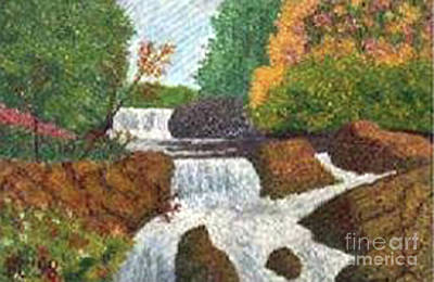 Colored Pencil Painting - Waterfalls by Vincent Consiglio
