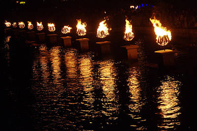 Photograph - Waterfire  by Barry Doherty