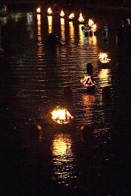 Waterfire Lights Art Print