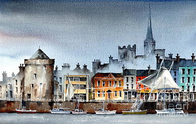 Painting - Waterford  City Quays by Val Byrne