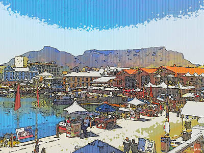 Waterfront And Table Mountain Art Print by Jan Hattingh