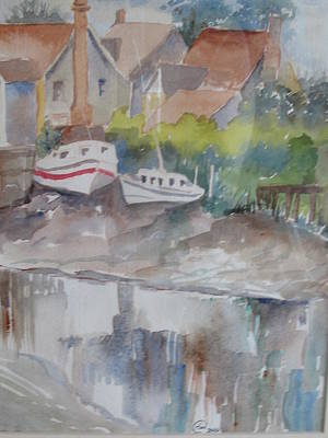Ebbtide Painting - Waterfront by Angelina Whittaker Cook