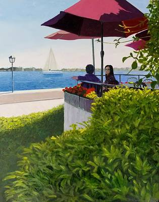 Painting - Waterfront Cafe by Karyn Robinson