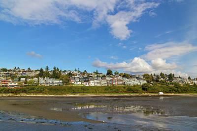 Summer Photograph - Waterfront Condominiums Along White Rock Promenade by David Gn