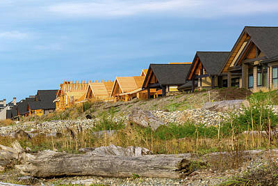 Photograph - Waterfront Condominiums On The Beach Of Semiahmoo Bay by David Gn