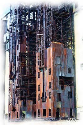 Digital Art - Waterfront Decay One by Richard Ricci