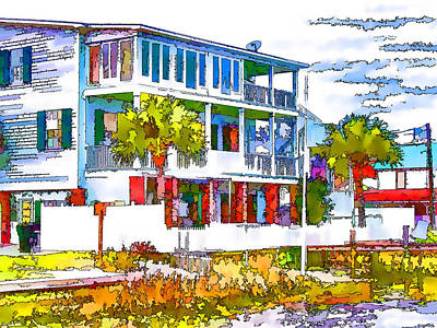 Swansboro Painting - Waterfront Home In Swansboro 2 by Lanjee Chee